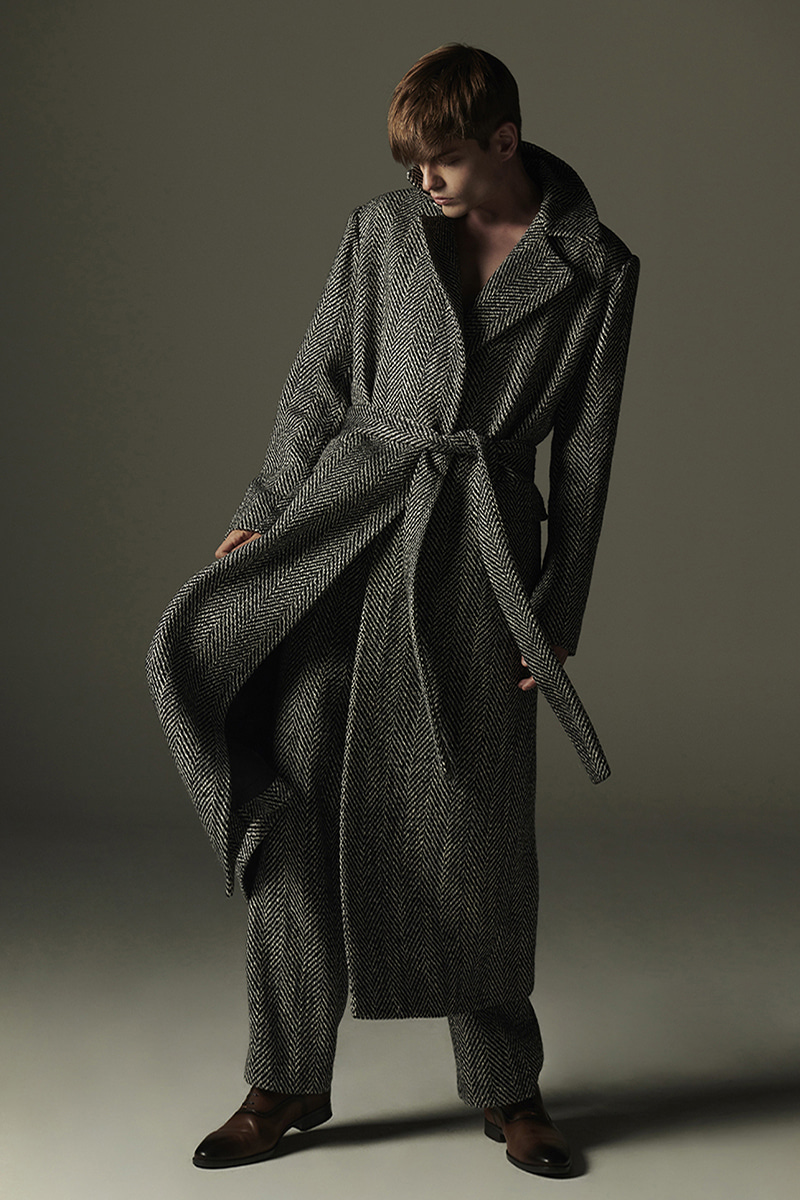 JOOSOOLOO > MEN'S HERRINGBONE COAT
