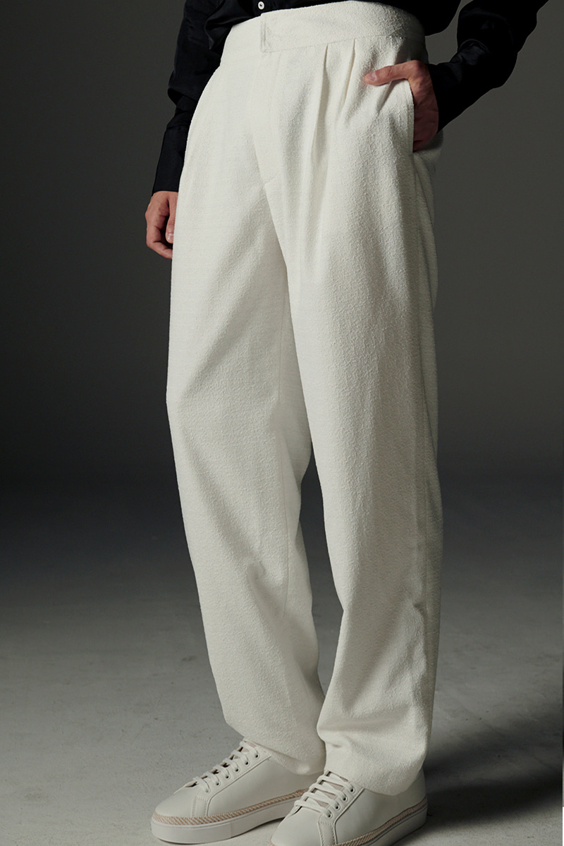 JOOSOOLOO > MEN'S WHITE TWEED PANTS