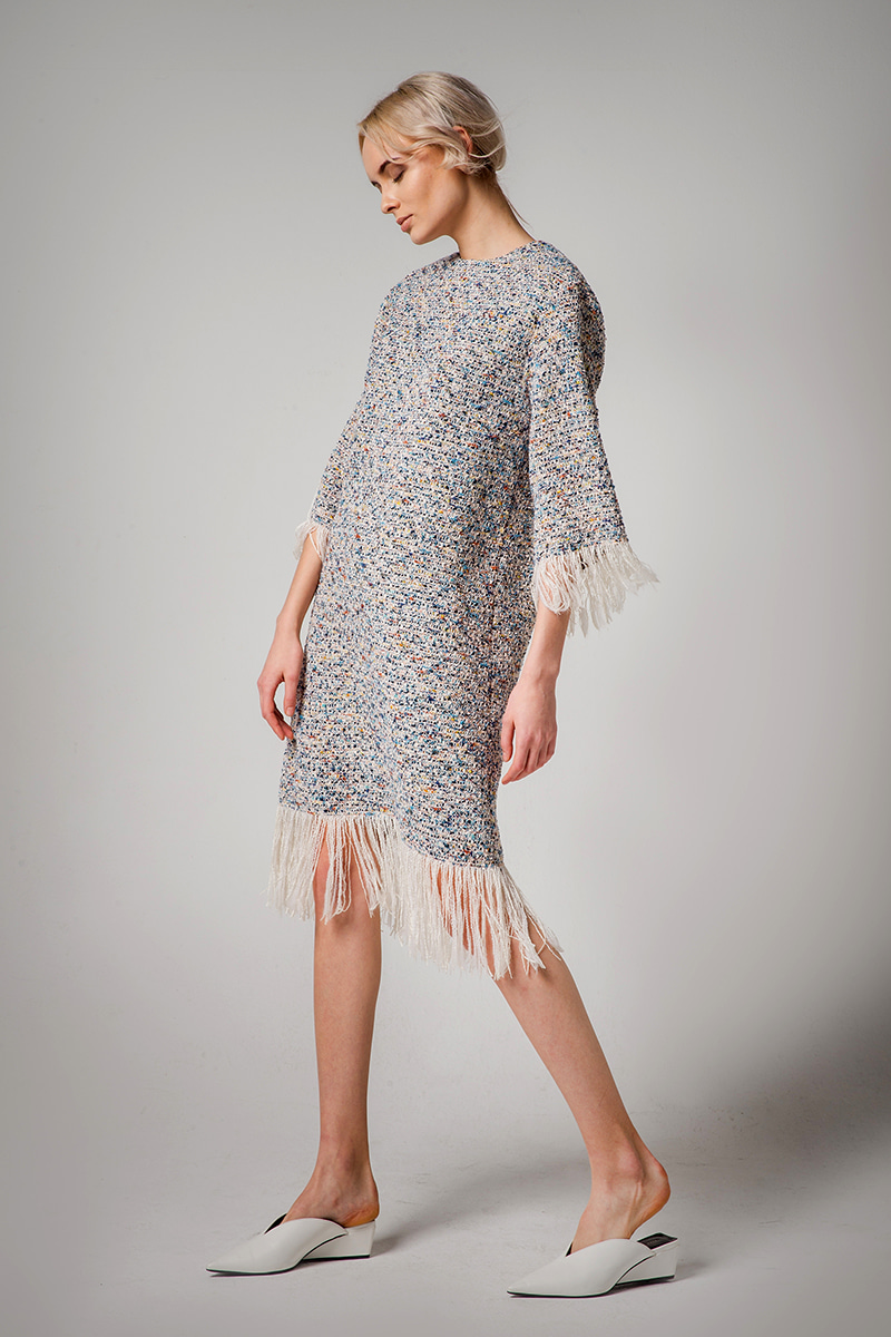 JOOSOOLOO > TASSEL TWEED DRESS